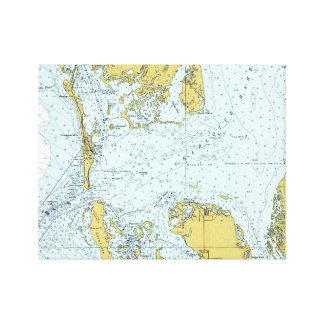 Charlotte Harbor Florida Vintage Nautical Map Canvas Print