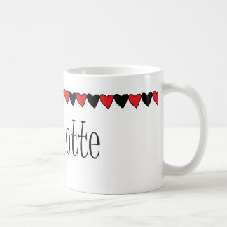Charlotte Hearts Name Coffee Mug