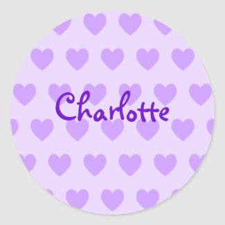 Charlotte in Purple sticker