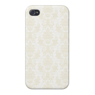 Charlotte: Ivory Damask Print iPhone 4 Case
