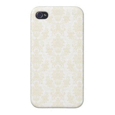 Beach Themed Charlotte: Ivory Damask Print iPhone 4 Case