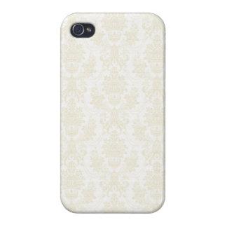 Charlotte: Ivory Damask Print iPhone 4 Case