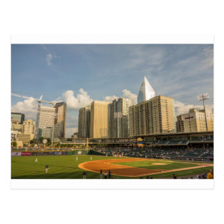 charlotte knights baseball stadium game city bbt b postcard