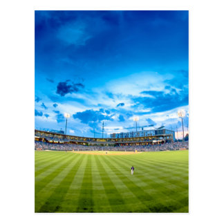 charlotte knights baseball stadium game postcard
