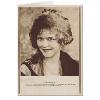 Charlotte Merriam 1920 vintage portrait card