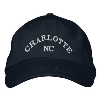 Charlotte NC classy embroidered hat