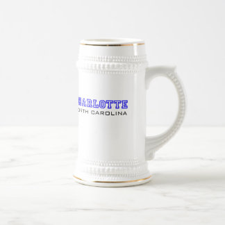 Charlotte, NC - Letters Beer Stein
