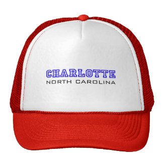 Charlotte, NC - Letters Trucker Hat