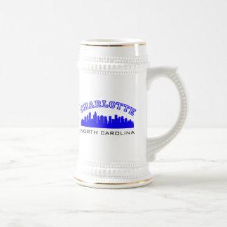 Charlotte NC Outline Beer Stein