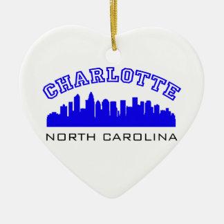 Charlotte NC Outline Christmas Ornaments