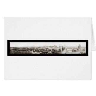 Charlotte NC Panorama Photo 1918 Card
