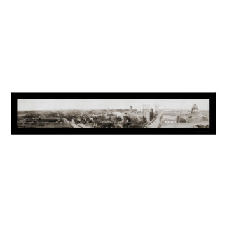 Charlotte NC Panorama Photo 1918 Poster