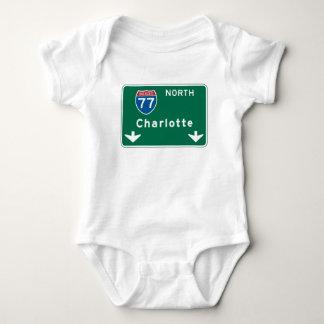 Charlotte, NC Road Sign Infant Creeper