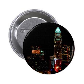 Charlotte NC Skyline Button