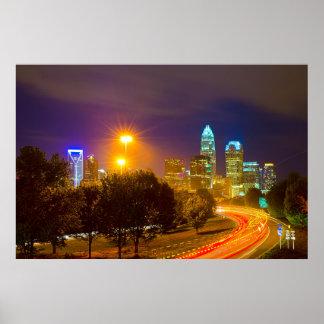 Charlotte NC Skyline Poster