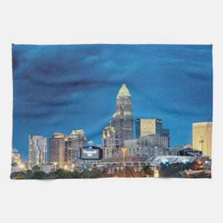 charlotte nc skyline towel