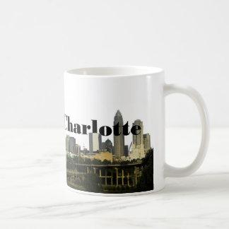 Charlotte NC Skyline with Charlotte in the Sky Coffee Mug