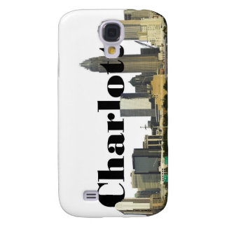 Charlotte NC Skyline with Charlotte in the Sky Samsung Galaxy S4 Case