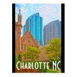 Charlotte NC Tarjeta Postal