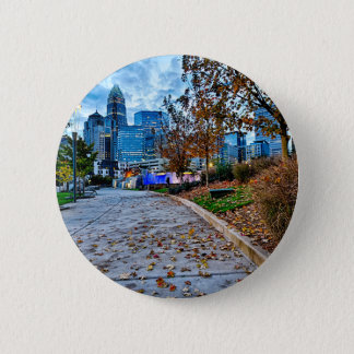 charlotte north carolina autumn season city skylin button