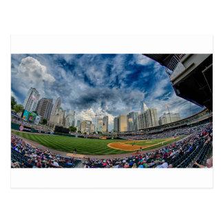 charlotte north carolina ballpark skyline postcard