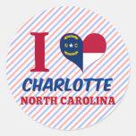 Charlotte, North Carolina Classic Round Sticker