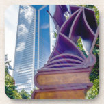 charlotte north carolina downtown city skyline drink coaster