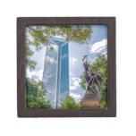 charlotte north carolina downtown city skyline gift box