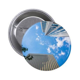 charlotte north carolina downtown city skyline pinback button