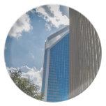 charlotte north carolina downtown city skyline plate