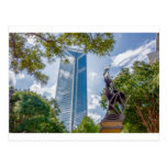 charlotte north carolina downtown city skyline postcard