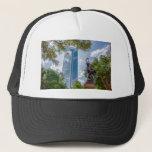 charlotte north carolina downtown city skyline trucker hat