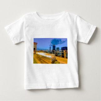 charlotte north carolina evening skyline aerial fa shirt