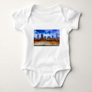 charlotte north carolina evening skyline aerial fa t-shirt