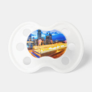 charlotte north carolina evening skyline aerial pacifier
