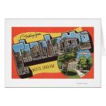 Charlotte, North Carolina - Large Letter Scenes Greeting Card