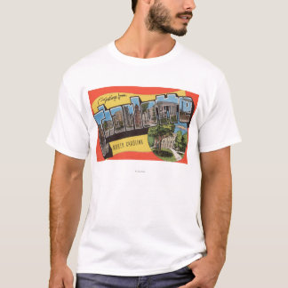 Charlotte, North Carolina - Large Letter Scenes T-Shirt