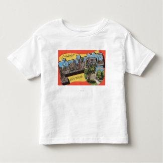 Charlotte, North Carolina - Large Letter Scenes T Shirt