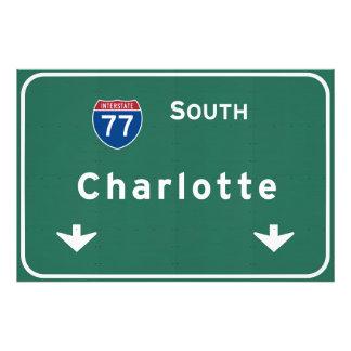 Charlotte North Carolina nc Interstate Highway : Photo Print