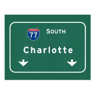 Charlotte North Carolina nc Interstate Highway : Postcard