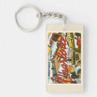 Charlotte North Carolina NC Old Vintage Postcard- Keychain