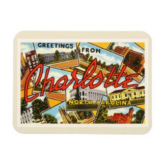Charlotte North Carolina NC Old Vintage Postcard- Magnet