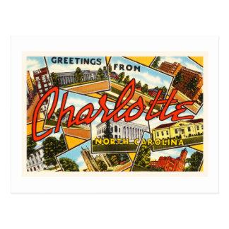Charlotte North Carolina NC Old Vintage Postcard- Postcard