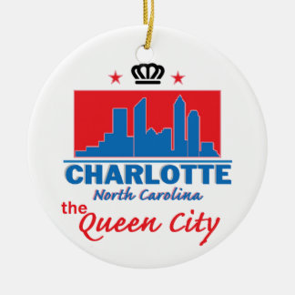 Charlotte North Carolina Christmas Tree Ornament