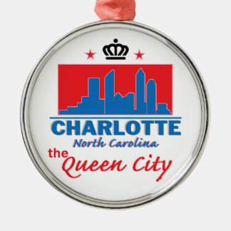 Charlotte North Carolina Christmas Tree Ornaments