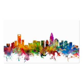 Charlotte North Carolina Skyline Double-Sided Standard Business Cards (Pack Of 100)