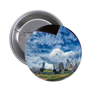 charlotte north carolina skyline downtown city bal button