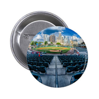 charlotte north carolina skyline downtown city bal pinback button