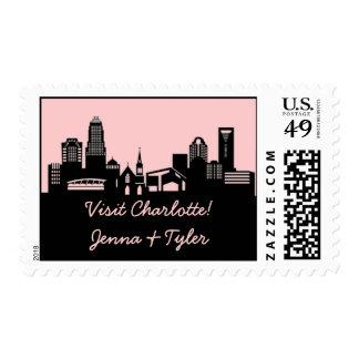 Charlotte, North Carolina Skyline Postage Stamp