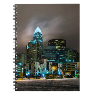 Charlotte, North Carolina skyline Spiral Notebook
